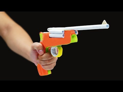 DIY Paper Gun! - How to Make a Paper Pistol That Shoots