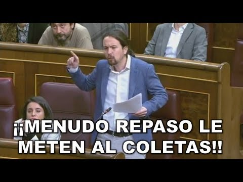 ¡¡ZASCA!! PABLO IGLESIAS ARREMETE contra MARIANO RAJOY por la CONSTITUCIÓN ... ¡¡Y SALE VAPULEADO!!