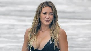 Hilary Duff Slays in a Black Bikini While Enjoying a Beach Day With Ex Mike Comrie and Son Luca