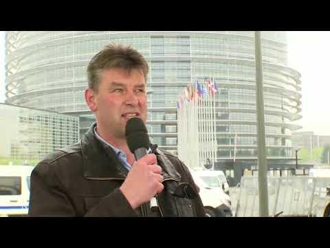 1 500 tracteurs convergent vers le Parlement européen de Strasbourg !