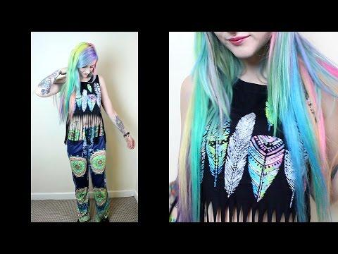 GRWM - Pastel Rainbow Hippie