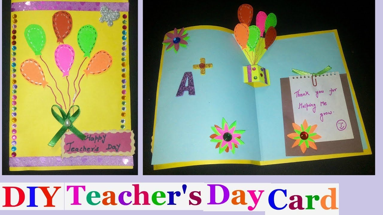 Card Making Ideas For Children Part - 46: Teachers Day Pop Up Cards |Teachers Day Pop Up Card Making Ideas For Kids  -DIY