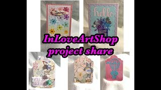 InLoveArtShop dies and stamps project share