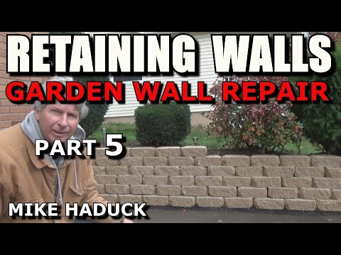 How I build a small stone wall (part 5 of 5) Mike Haduck