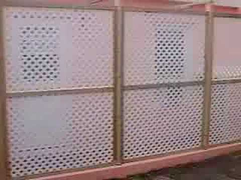 Lattice Pvc Fencing Installation Privacy Screen Youtube