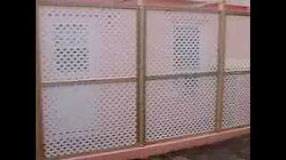 Lattice Pvc Fencing Installation, Privacy Screen,