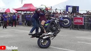 PART 3/4 YAMAHA Stunt Show by STUNTER WAWAN TEMBONG