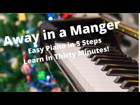 Away In A Manger Easy Piano Free Sheet Music Printable Video Tutorial Lesson