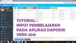 Tutorial Input Pembelajaran Pada Aplikasi Dapodik Versi 2018