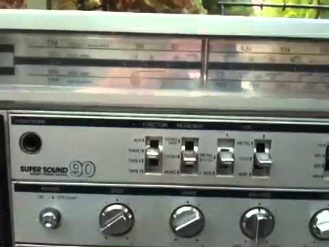 SANKEI TCR-S90 STEREO DOUBLE CASSETTGHETTOBLASTER
