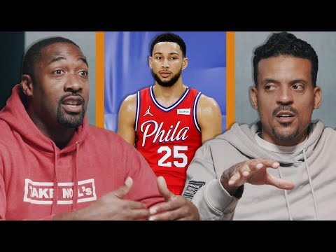 Gilbert Arenas on Ben Simmons: He's at the the top of the key and you're gonna do a pin down for a shooter?.. The fact that you're not smart enough to say 'Just drive, just go score, 1-4 flat it'.. The fact that you're not Greek the Freak'in this dude tells me another story too.. That's coaching too