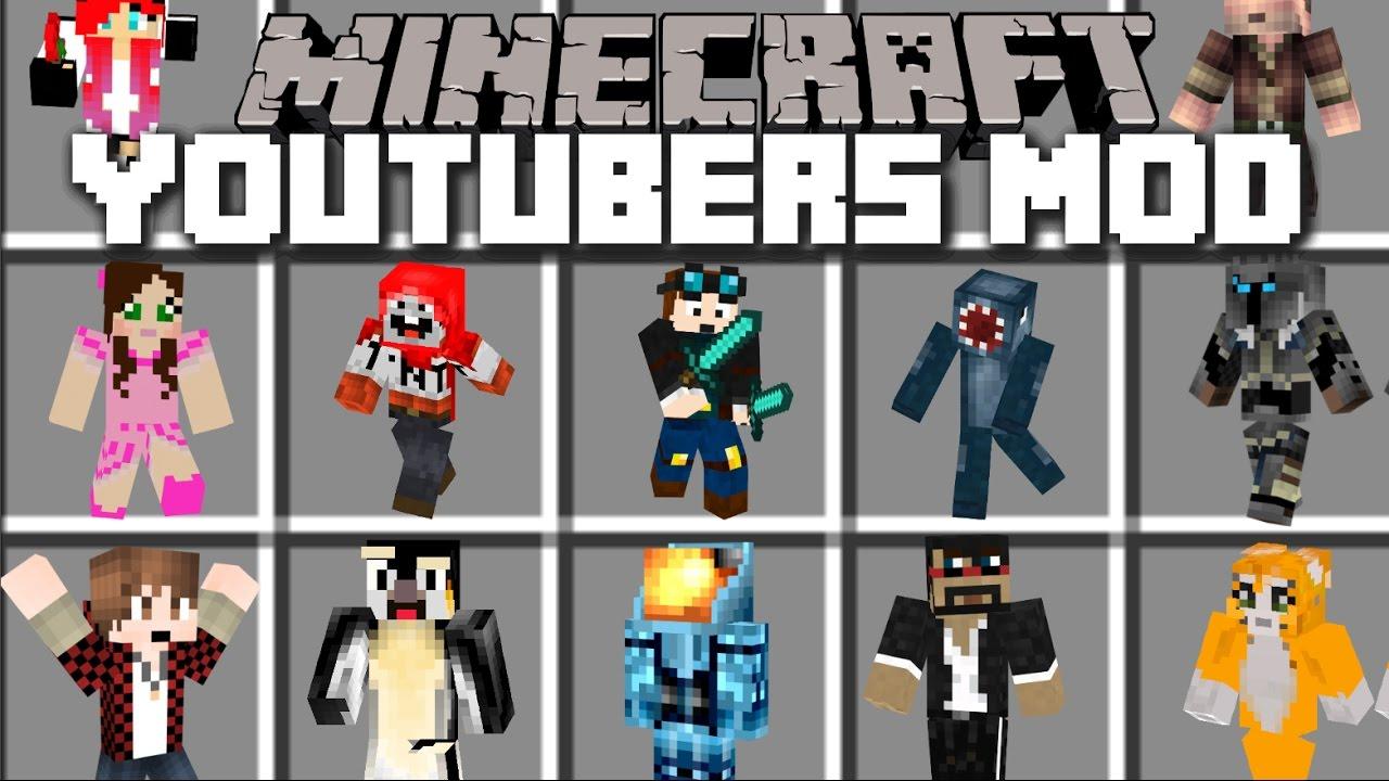 Minecraft YOUTUBERS MOD / YOUTUBERS CRASH THE SIMPSONS MOVIE SET!! Minecraft