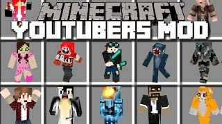 Minecraft YOUTUBERS MOD / YOUTUBERS CRASH THE SIMPSONS MOVIE SET!! Minecraft