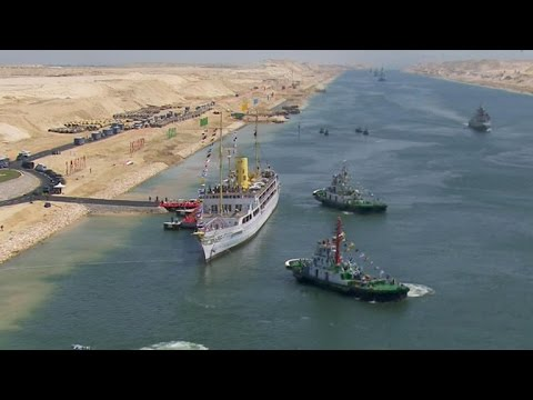 Egypt opens historic expansion of Suez Canal