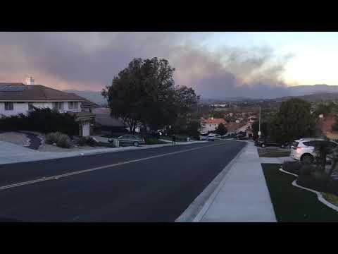 Fire San Diego North County Bonsall Fire 2017 Dec.
