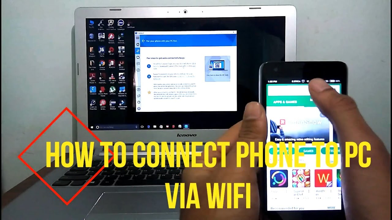 How to connect the phone to the computer