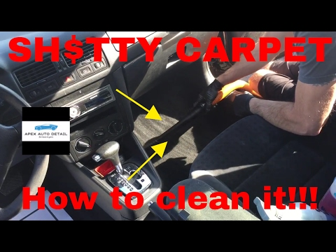 Tips and tricks on how to clean the entry level carpet in cars and trucks.
