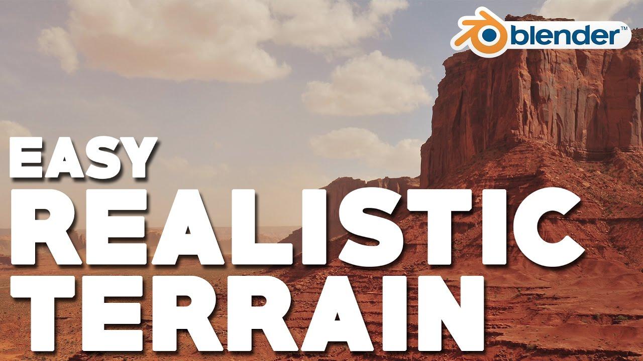 Easy Realistic Terrain (Part 2 - Desert Mountain)