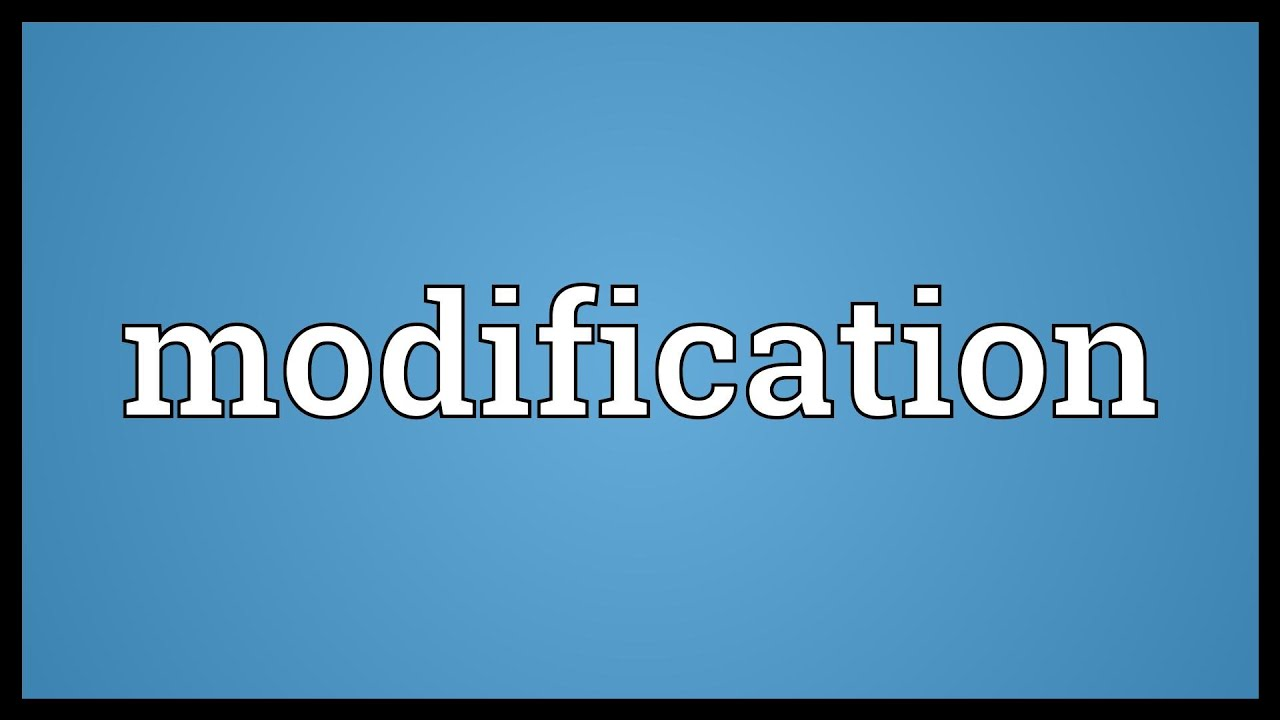 modification meaning youtube
