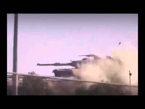 War In Iraq 2014  RPG 7 And Mine Destroy M1 Abrams Tank  Abrams M1 Vs RPG 7