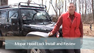 Video The Best Jeep Wrangler Hood Lock -  Mopar Hood Lock Install and Review download MP3, 3GP, MP4, WEBM, AVI, FLV Juli 2018