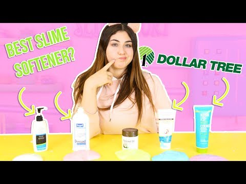 DOLLAR TREE LOTION VS SLIME TEST! Does dollar tree lotion work to soften slime? Slimeatory #253