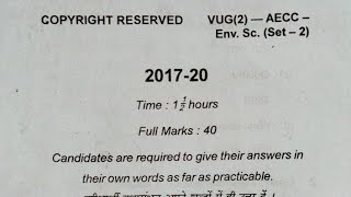 2017-20)semester2)AECC(EVS-set2)environmental science)vbu UG PYQ
