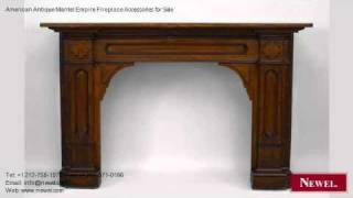 American Antique Mantel Empire Fireplace Accessories For