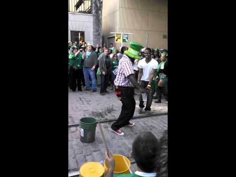 St. Patrick's day on River Street in Savannah!