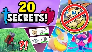 20 SECRETS YOU DON'T KNOW OR MISSED about Pokémon Sword & Shield!