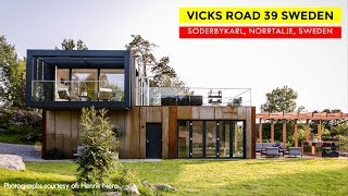 Vicks Road 39 Sweden: Luxury Shipping Container Home in Soderbykarl, Norrtalje, Sweden