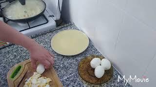 Жареные пирожки бездрожжевого теста ! С капустой и яйцом .