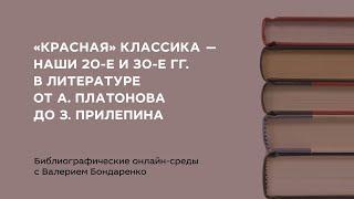 Библиографические онлайн-среды с Валерием Бондаренко «Молодёжь в литературе ХХ-XXI вв.». Вып. 1