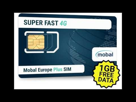 Europe Plus SIM by Mobal 1GB of Fast 4G Data Included.