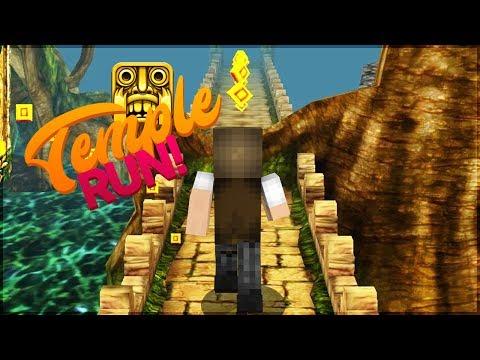 Minecraft: TEMPLE RUN NO MINECRAFT! (EU ODEIO MINHA BARRA DE ESPAÇO!)