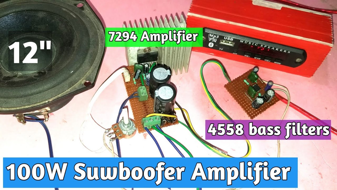 """Tda7294 À¤""""र 4558 100w Subwoofer Amplifies You Like Electronic Youtube"""