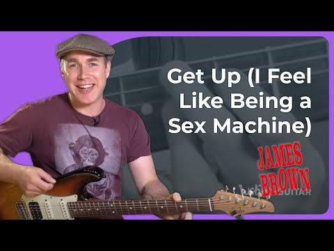 Sex Machine - James Brown - Easy Funk Guitar Lesson Tutorial (ST-367)