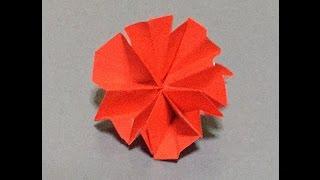 折り紙 折り方 カーネーションの花 作り方.
