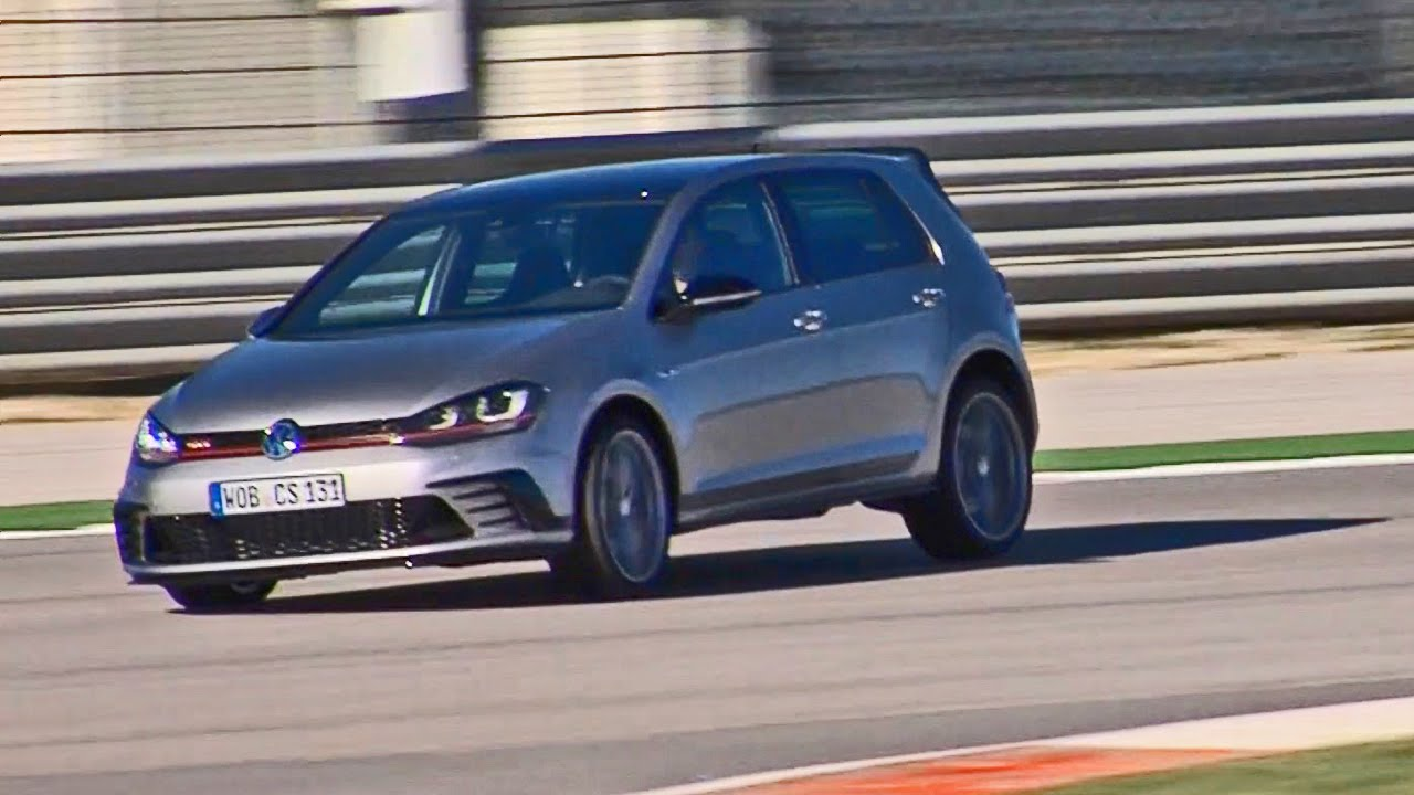 vw golf gti clubsport 2016 test drive on race track. Black Bedroom Furniture Sets. Home Design Ideas