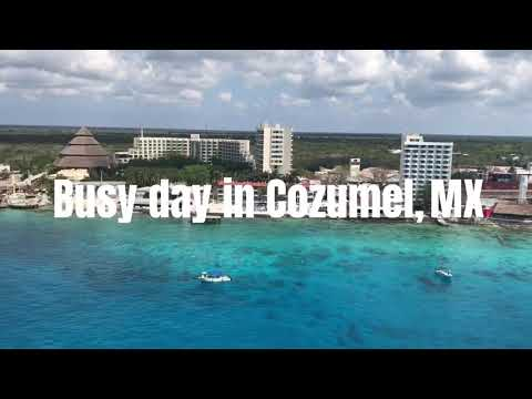 Busy Day in Cozumel, MX! (Princess, Carnival, Royal Caribbean, and Norwegian Cruise lines)