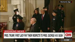 CNN panel trashes Trump after Capitol visit to honor George H.W. Bush