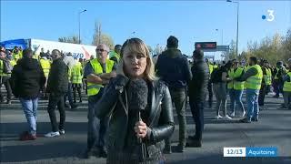 France 3 COUPE UN DIRECT  lorsque une journaliste parle de CRS QUI MENACENT LES MANIFESTANTS