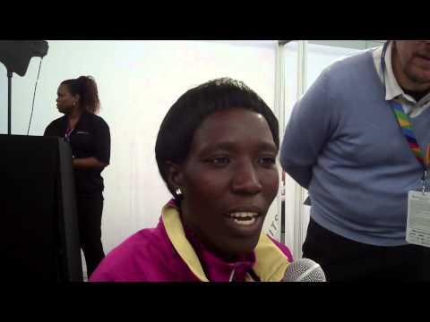World Champ Edna Kiplagat Speaks Before 2014 TCS NYC Marathon