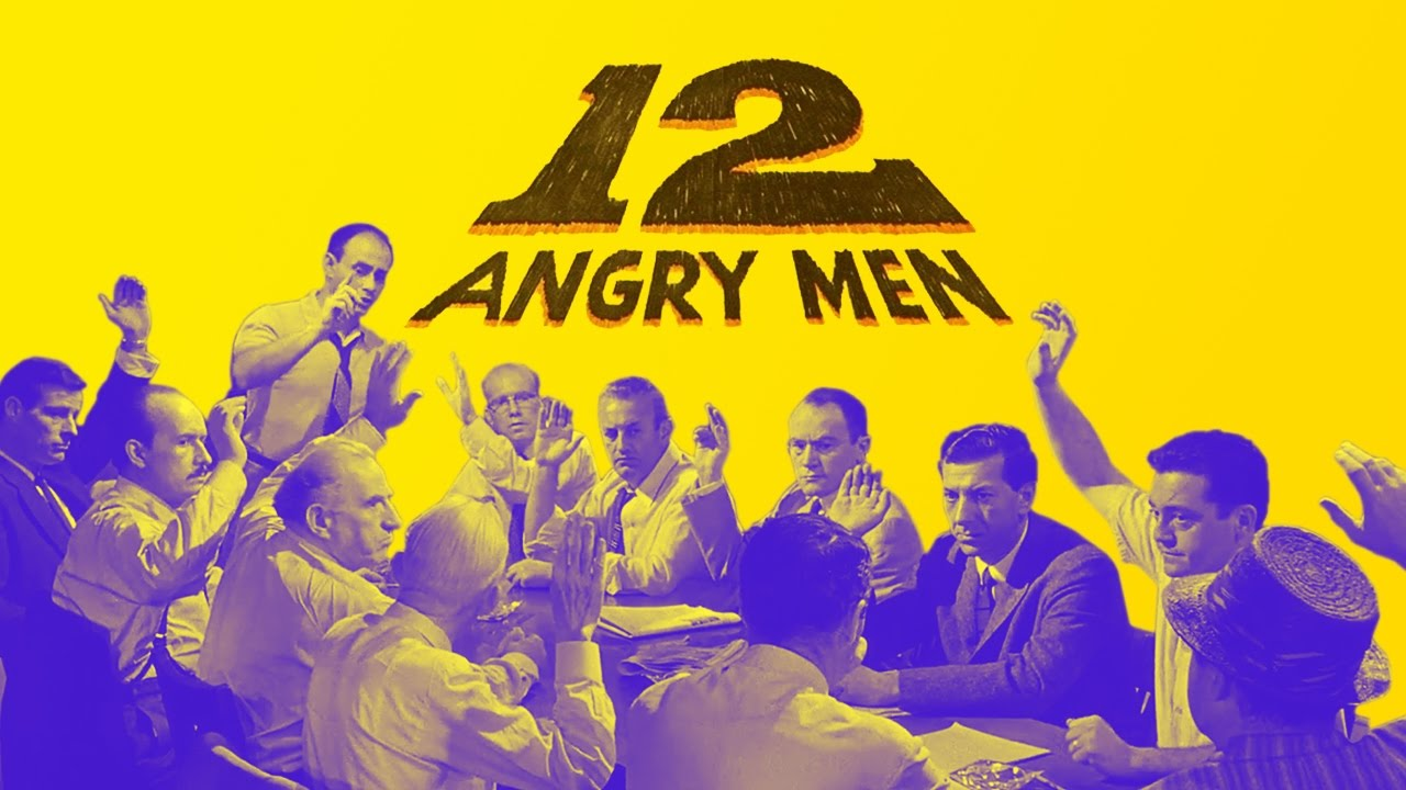 12 angry men review The movie 12 angry men depicts a typical scene today: twelve jury members meeting to discuss a case presented to them and determine guilt or innocence of a young man accused of killing his own father.