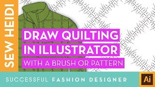 Quilted Down For Fashion Sketches In Illustrator: Pattern Brush & Repeating Pattern