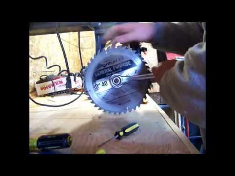 Oshlun LG-R01 Radial Arm Saw Laser Install