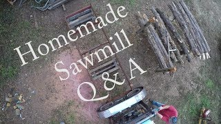 Homemade Sawmill Q&A Car Tire Bandmill