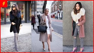 How to Wear Fur Collar Coat to Look Classy and Elegan