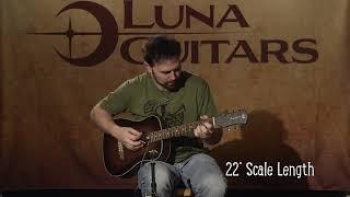Safari Vintage Distressed Travel Guitar by Luna Guitars