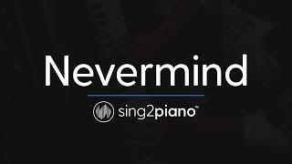 Nevermind (Piano Karaoke Instrumental) Dennis Lloyd Video